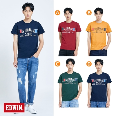 [時時樂限定] EDWIN  塗鴉系列 怪獸LOGO短袖T恤(男款)-4色