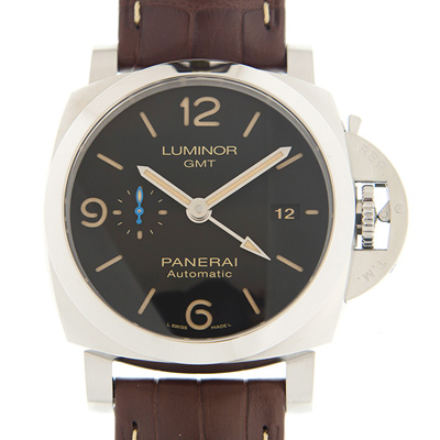 PANERAI 沛納海 LUMINOR  PAM01320 GMT黑色自動款x44mm