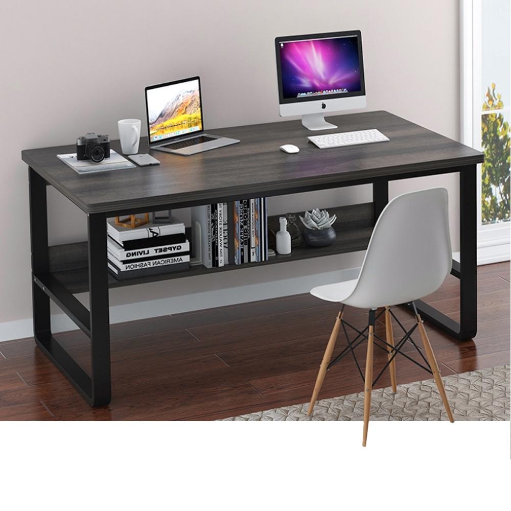 【Incare】高質感-鋼木多用收納工作電腦桌(120公分/3色可選) product image 1