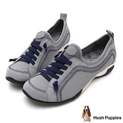 Hush Puppies QUALIFY 熱銷彈力休閒鞋-灰