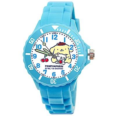 Sanrio三麗鷗二代中型運動彩帶錶34mm-布丁狗 天藍色