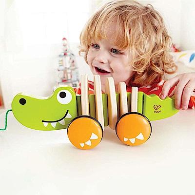 德國Hape愛傑卡-鱷魚拉車
