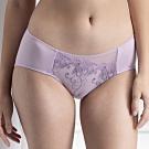 華歌爾- 美型 M-LL 中低腰內褲(粉紫)蕾絲刺繡-親膚包臀