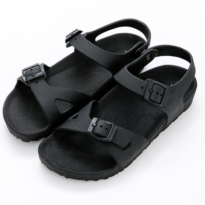 River&Moon防水鞋-台灣製輕量造型防水涼拖鞋-黑