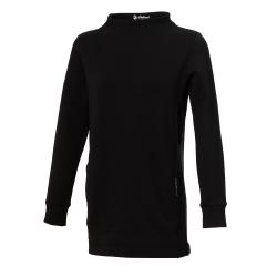 【WILDLAND荒野】女彈性長版時尚保暖上衣黑色