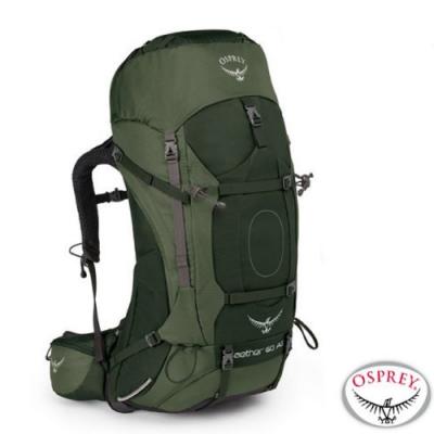 OSPREY 新款 Aether AG 60L 輕量透氣健行登山背包M_杜松綠 R