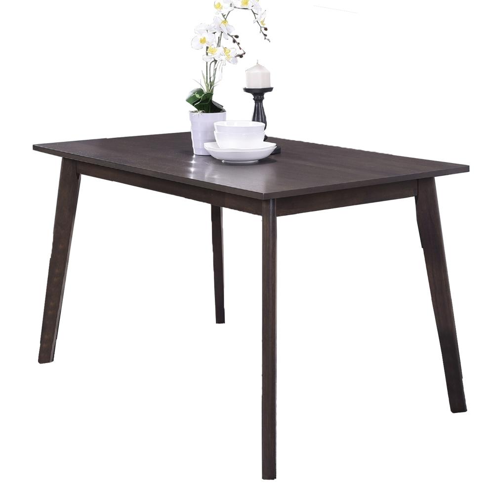【AT HOME】日式簡約4尺胡桃色實木餐桌/工作桌/休閒桌/洽談桌/辦公桌(布丹)