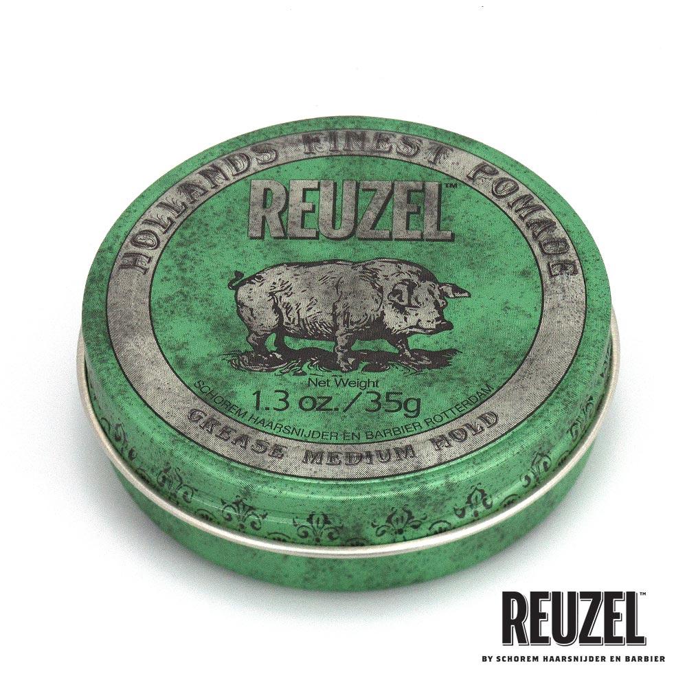 REUZEL Green Pomade Grease綠豬中強髮油35g