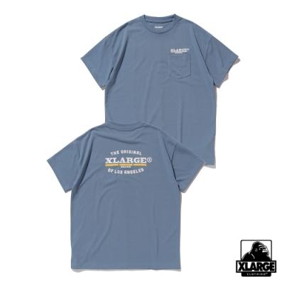 XLARGE ORIGINAL SS POCKET T 短袖T恤-藍