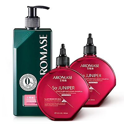AROMASE艾瑪絲 迷人香氛CC洗髮2入修護組(捷利爾260mLx2+修護素400mL)
