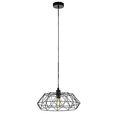 EGLO歐風燈飾 現代黑鳥巢造型寬吊燈(不含燈泡)