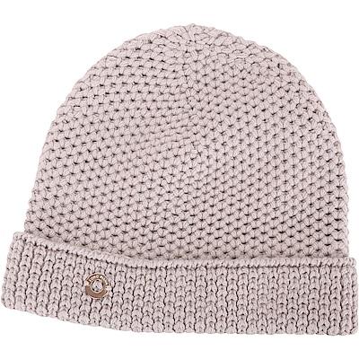 Loro Piana 100%喀什米爾可可灰棕粗針織毛線帽