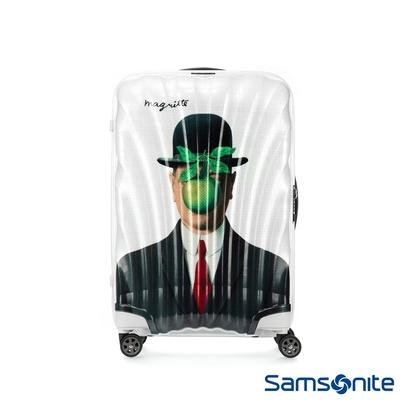 (6/1 10:00 ~6/21 10:00 送超贈點2000) Samsonite新秀麗 x Magritte 25吋C-LITE極輕Curv材質經典貝殼行李箱(MAN OF SON)