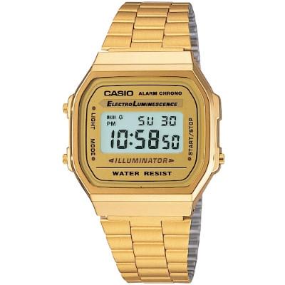 CASIO 金色經典復刻電子錶(A-168WG-9)/38mm