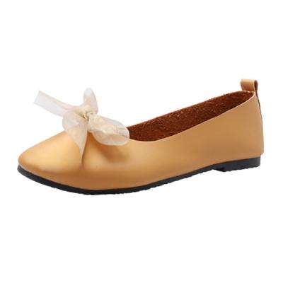 KEITH-WILL時尚鞋館 典雅圓頭簡約平底鞋-黃色