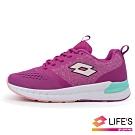 LOTTO 義大利 童 LIGHT FLY 輕量跑鞋 (紫紅)
