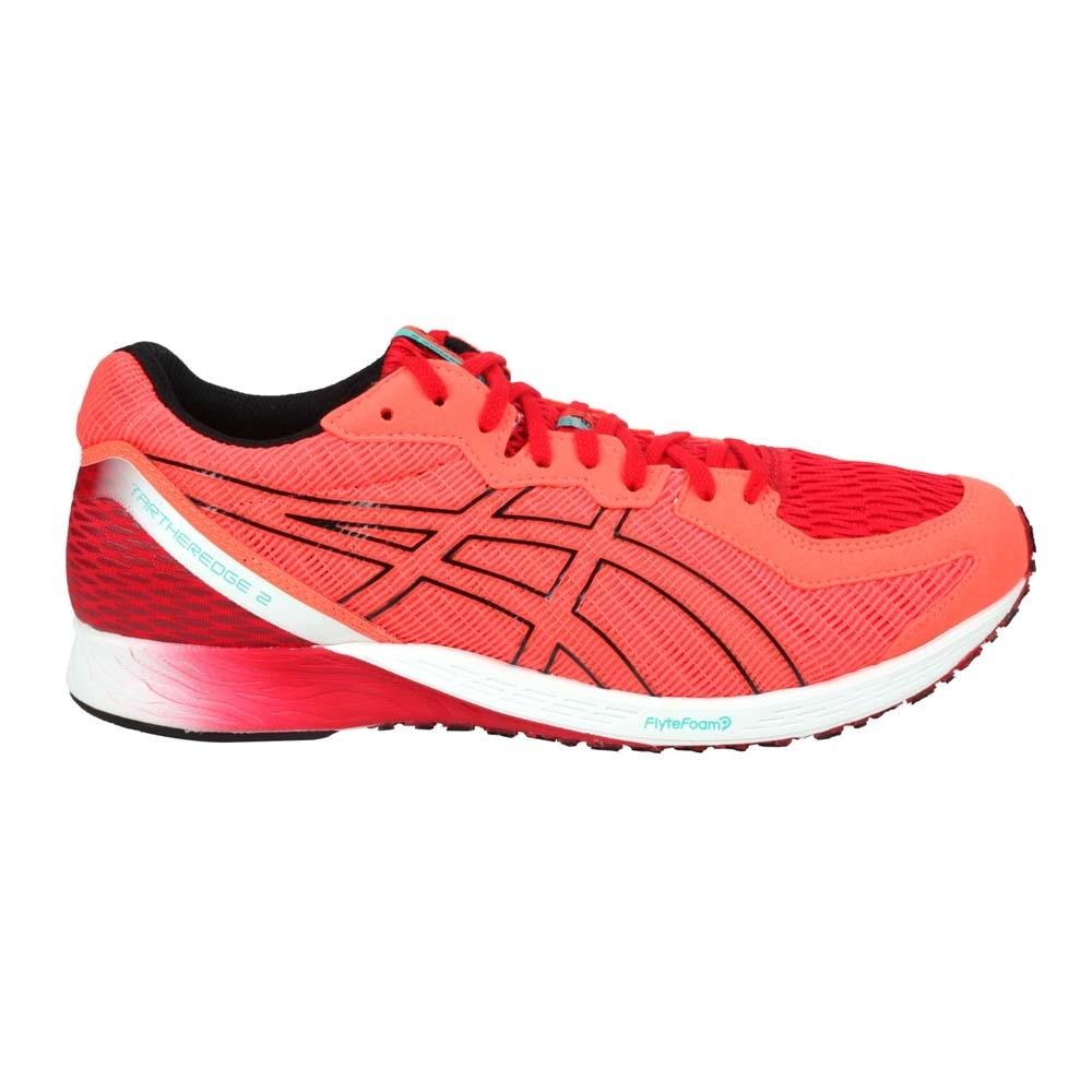 ASICS TARTHEREDGE 2男虎走路跑鞋-2E-寬楦 慢跑 亞瑟士 競賽 1011A855-600 螢光橘紅黑