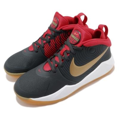 Nike 籃球鞋 Team Hustle D 9 運動 女鞋 避震 包覆 支撐 穩定 球鞋 大童 黑 紅 AQ4224011