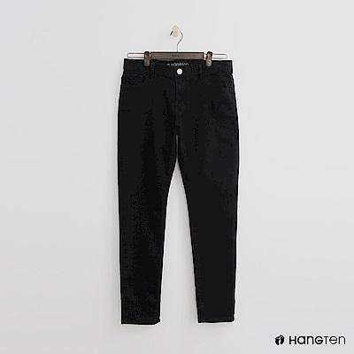 Hang Ten -休閒純色直筒褲 - 黑