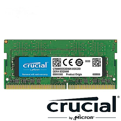Micron Crucial NB-DDR4 2666/8G 筆記型記憶體RAM(相容於新舊版CPU)