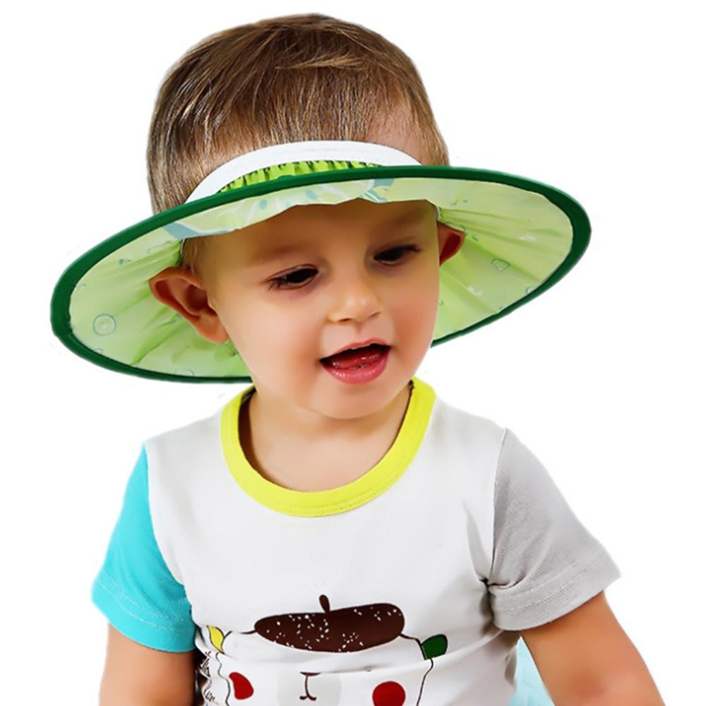 colorland【2入】嬰兒洗頭帽子水果圖案可調節洗髮帽 剪髮帽