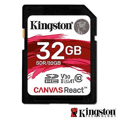 Kingston 金士頓 32G U3 SDHC UHS-I V30 A1 記憶卡 SDR