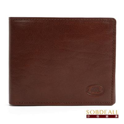 SOBDEALL 26週年限定款男女通用真皮八卡短夾