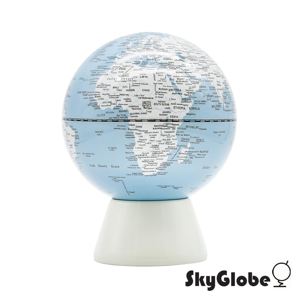 SkyGlobe 5吋存錢筒地球儀(英文版)-粉藍