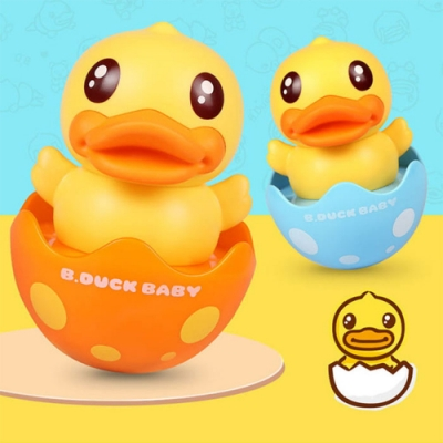 B.Duck.Baby 小黃鴨不倒翁安撫搖鈴/玩具