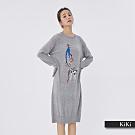 【KiKi】時尚小女人長版-針織衫(二色)