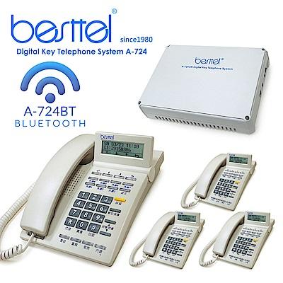 besttel 錄音 + 藍芽型 數位系統總機 A-724BT