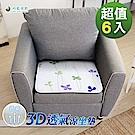 格藍傢飾-水洗速乾透氣1人坐墊-幸運草(15mm)-6入