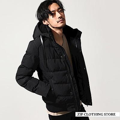 內絨毛鋪棉夾克外套(1色) ZIP日本男裝