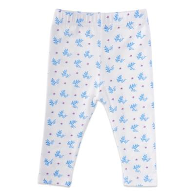 【Deux Filles有機棉】初生嬰幼兒四季棉褲-藍色樹葉