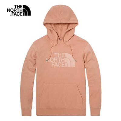 The North Face北面男女款粉色休閒連帽大學T|4U8YV3R