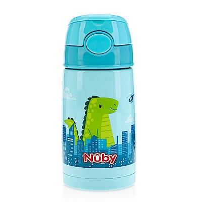 Nuby不鏽鋼真空隨行杯-恐龍大戰_ 300 ml( 18 M+)