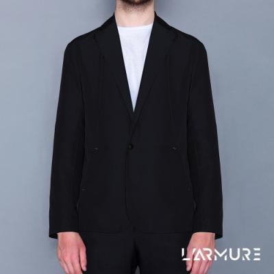 L ARMURE 男裝 Ultra-Light防潑水休閒西裝 (黑色)