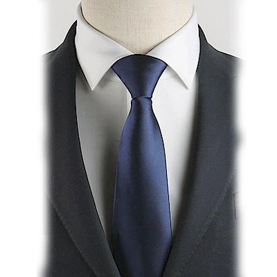 拉福   布面辦公領帶8cm寬版領帶拉鍊領帶 (黑.藍)