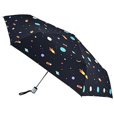 2mm 100%遮光 星幻夜空黑膠降溫自動開收傘(宇宙)