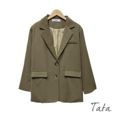 墊肩厚雪紡西裝外套 共三色 TATA-F