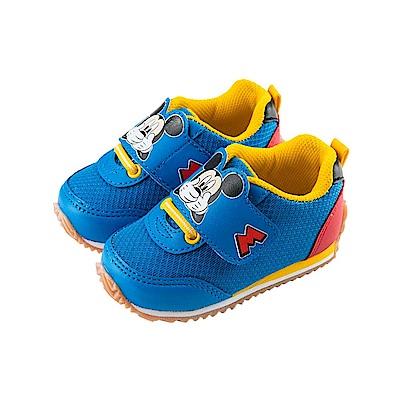 迪士尼 米奇 經典造型 手工慢跑鞋-藍