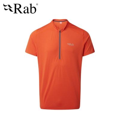 【英國 RAB】Sonic SS Zip 透氣短袖拉鍊排汗衣 爆竹橘 男款  #QBU95