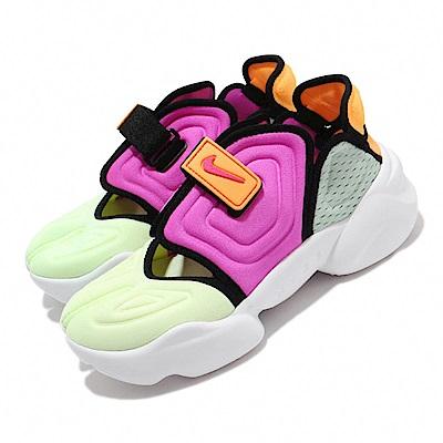 Nike 休閒鞋 Aqua Rift 運動 女鞋 輕便 忍者鞋 舒適 穿搭 色塊拼接 綠 彩 CW7164700