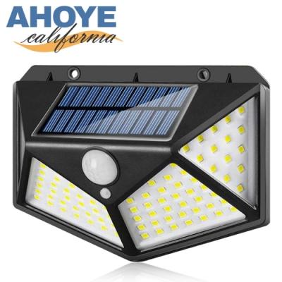 Ahoye 100LED防水太陽能感應燈 玄關燈 庭院燈