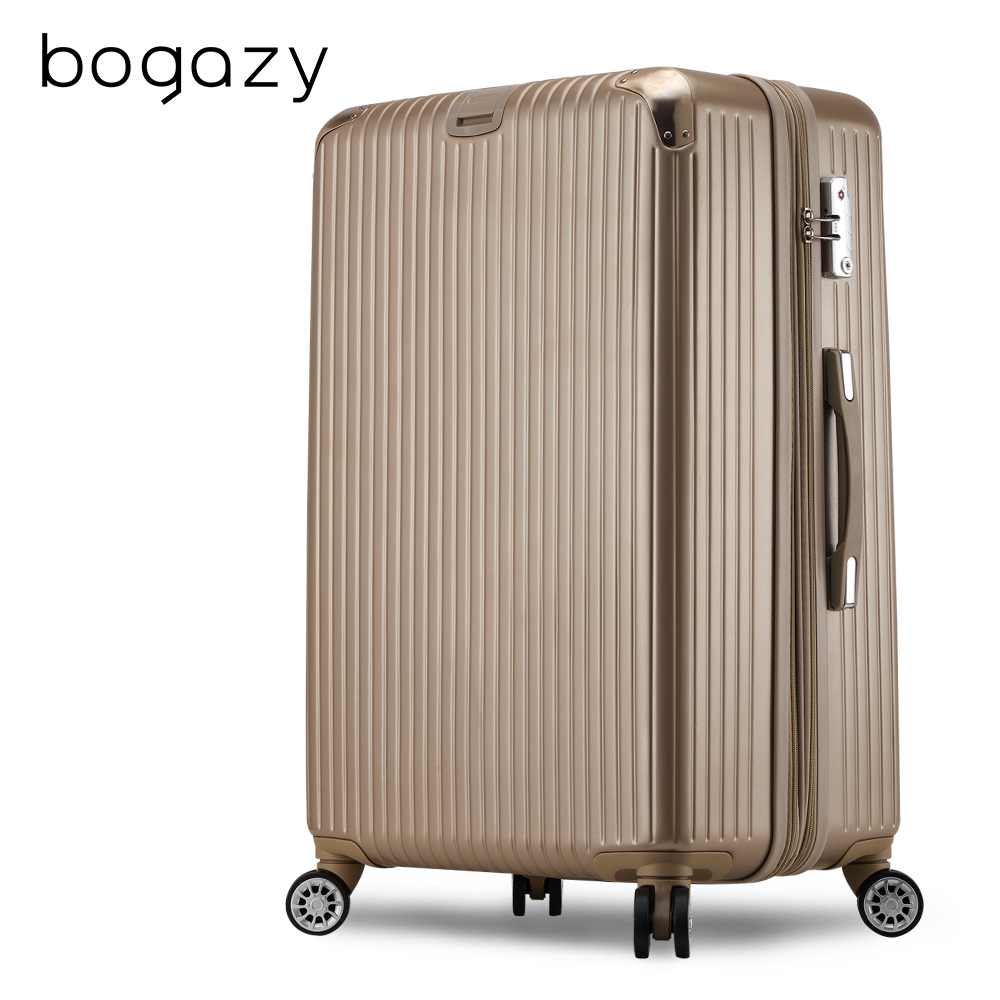 Bogazy 冰封行者Ⅱ 19吋平面式V型設計可加大行李箱(香檳金)