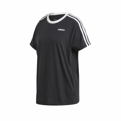 adidas T恤 ESS Boyfriend Tee 休閒 女款 愛迪達 三線 男友風 寬鬆 日常穿搭 黑 白 FN5776