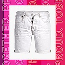 Levis 男款 上寬下窄 501排釦牛仔短褲 Pride平權 彩虹繡線