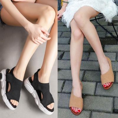 [時時樂限定]LN 風格嚴選魚口涼鞋-2款3色