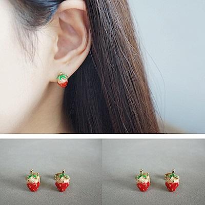 【梨花HaNA】韓國甜蜜幻想草莓女孩耳環