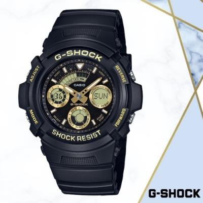 CASIO卡西歐 無限Tough精神雙顯錶(AW-591GBX-1A9)金/52mm